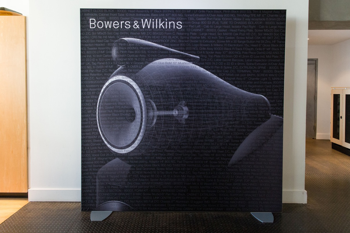 Bowers and Wilkins SEG Fabric Tradeshow Backdrop